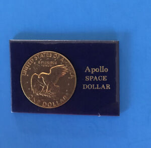 US APOLLO SPACE DOLLAR EAGLE LANDING ON LUNAR SURFACEDESIGNED BY FRANK GASPARRO