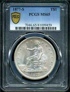Click now to see the BUY IT NOW Price! 1877 S T$1 TRADE SILVER DOLLAR MS65 PCGS 41099459