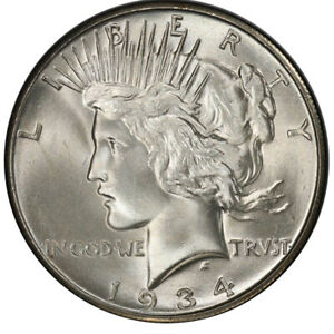 Click now to see the BUY IT NOW Price! 1934 S $1 PEACE DOLLAR PCGS MS66 3284 2