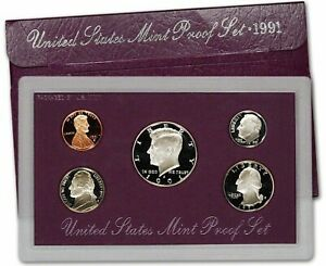 1991 S PROOF SET UNITED STATES US MINT ORIGINAL GOVERNMENT PACKAGING BOX & COA