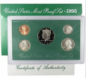 1995 S PROOF SET U.S. MINT ORIGINAL GOVERNMENT PACKAGING OGP COLLECTIBLE