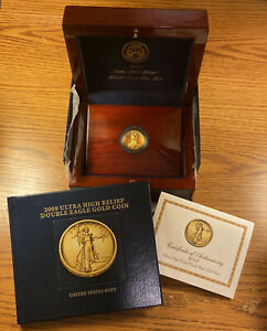 Click now to see the BUY IT NOW Price! 2009 ULTRA HIGH RELIEF $20 GOLD DOUBLE EAGLE GOLD COIN   BOX COA & BOOK