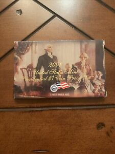 2008 U.S. MINT PRESIDENTIAL $1 COIN PROOF SET COMPLETE WITH BOX & COA