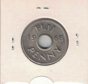 FIJI PENNI 1966 OR 1967 BOTH UNC OR SHILLING 1962 OR 1965 UNC PRICE PER COIN