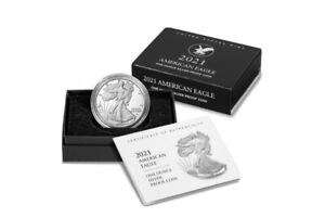2021 W AMERICAN EAGLE ONE OUNCE  1OZ  SILVER PROOF COIN  21EA