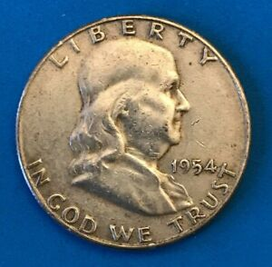 1954 S US FRANKLIN HALF DOLLAR   IN CIRCULATED CONDITION   SAN FRANCISCO US MINT