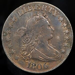 1806 DRAPED BUST QUARTER    XF DETAILS CONDITION