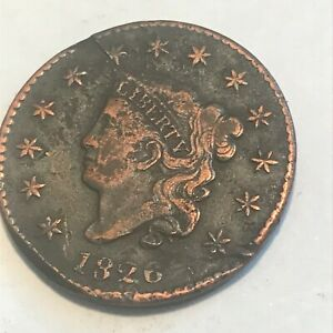 1826 LARGE CENT    NICE SOME DAMAGE BUT GREAT DETAILS    COIN   N/R