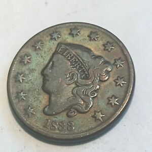 1833 LARGE CENT    NICE NICE FINE/ VF ORIGINAL GREAT DETAILS    COIN