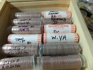 UNCIRCULATED HALF ROLL  20  OF STATE ERROR QUARTERS                          3F