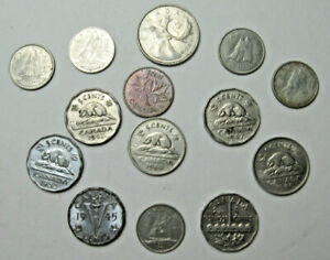 14 CANADIAN COINS FROM 1940'S TO 1970'S