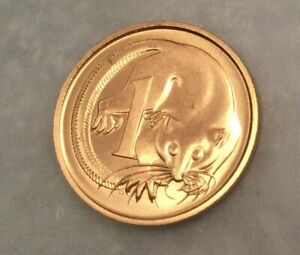 1988 1C COIN AUSTRALIAN FEATHER TAILED GLIDER POSSUM UNC   FREE DOMESTIC POSTAGE