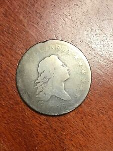 1795 FLOWING HAIR HALF DOLLAR GOOD O 124 STAR IN BUST VARIETY GREAT TYPE COIN