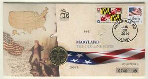 COIN F46 USA COMMEMORATIVE QUARTER 2000 IN COVER MARYLAND STATE