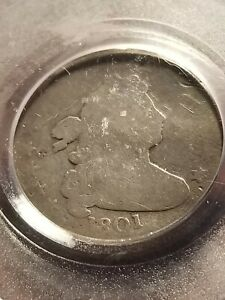 1801 DRAPED BUST SILVER DIME PCGS GENUINE  DATE      INV08     G816