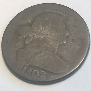 1802 LARGE CENT   NICE ORIGINAL SURFACES    COIN   N/R