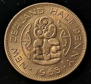 1965 NEW ZEALAND 1/2 PENNY NICE COIN