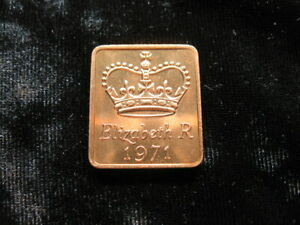 OLD PROOF SET MEDAL GREAT BRITAIN ROYAL MINT 1971  575