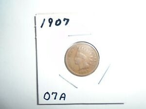 1907 P INDIAN HEAD CENT / PENNY  CIRCULATED