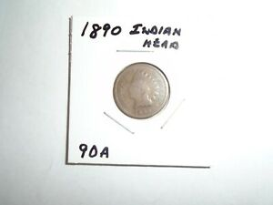 1890 P INDIAN HEAD CENT / PENNY  CIRCULATED