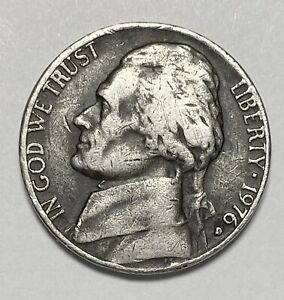 1976 D JEFFERSON NICKEL 5 CENTS REPUNCHED MINTMARK ERROR CIRCULATED COIN  4041