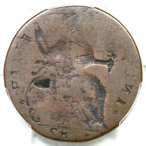 1787  GG.1 PCGS G 6 REVERSE BROCKAGE CONNECTICUT COLONIAL COPPER COIN
