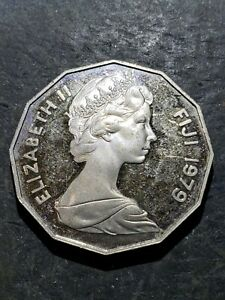 1979 FIJI  50 CENTS PROOF COIN