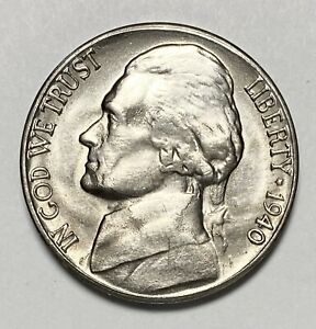 1940 S JEFFERSON NICKEL 5 REPUNCHED MINTMARK ERROR UNCIRCULATED COIN  3512