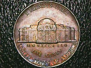 AWESOME 1994 D JEFFERSON NICKEL W/ COOL TONING OBVERSE & REVERSE