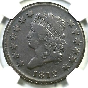 1812 S 290 NGC VF 30 SM DATE CLASSIC HEAD LARGE CENT COIN 1C