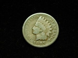 1887 INDIAN HEAD CENT W/ REVERSE DOUBLE RETAINED CUD