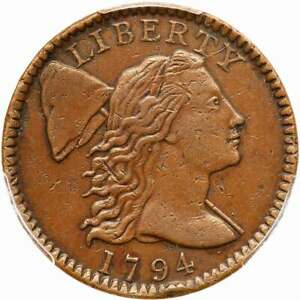 1794 S 72 R 2 PCGS XF 40 LIBERTY CAP LARGE CENT COIN 1C