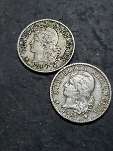 Click now to see the BUY IT NOW Price! 1899   1914 ARGENTINA 5 CENTAVOS COINS