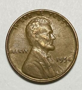 1954 LINCOLN OBVERSE WHEAT EARS REVERSE 1 CIRCULATED COIN   4061