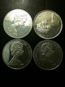 Click now to see the BUY IT NOW Price! 4X 1965 CANADA DOLLARS PL PROOF LIKE SILVER BU ELIZABETH II UNC GEM VOYAGEUR