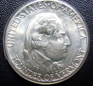 Click now to see the BUY IT NOW Price! 1927 VERMONT SILVER HALF DOLLAR GEM BU