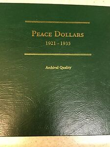 Click now to see the BUY IT NOW Price! 1921 1935 SILVER PEACE DOLLAR COLLECTION BOOK