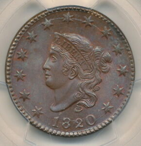 Click now to see the BUY IT NOW Price! 1820 LARGE CENT MATRON HEAD NEWCOMB 13 PCGS MS 66 BN   NEARLY FLAWLESS SPECIMEN