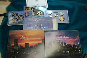 Click now to see the BUY IT NOW Price! 2010 US MINT UNCIRCULATED SET    ALSO PROOF SET  STATE QUARTERS PRESIDENTAL DOL.
