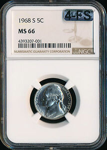 Click now to see the BUY IT NOW Price! 1968 S JEFFERSON NICKEL NGC MAC MS66 4FS  FINEST GRADE SPOTLESS