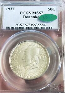 Click now to see the BUY IT NOW Price! 1937 P  ROANOKE  PCGS MS67 CAC  COMMEMORATIVE HALF DOLLAR