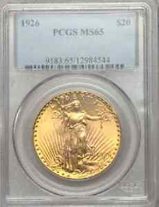 Click now to see the BUY IT NOW Price!  106  $20 SAINT GAUDENS PCGS MS65
