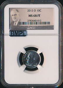 Click now to see the BUY IT NOW Price! 2013 D ROOSEVELT DIME NGC MAC MS68 FT DMPL FINEST REGISTRY