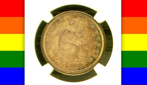 1869 PR62 CAC JUST 16 000 MINTED PLUS ONLY 600 PROOFS  PQ SEATED QUARTER 25C
