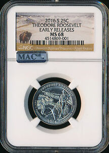 Click now to see the BUY IT NOW Price! 2016 S THEODORE ROOSEVELT QUARTER NGC MS68 EARLY RELEASES