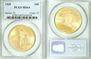 Click now to see the BUY IT NOW Price! 1929 PCGS MS64 SAINT GAUDENS $20 GOLD
