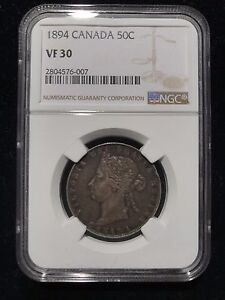 Click now to see the BUY IT NOW Price! 1894 CANADA FIFTY CENT NGC VF30 CHOICE FINE VICTORIA SILVER HALF DOLLAR 50C