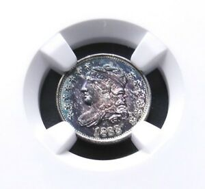 Click now to see the BUY IT NOW Price! 1833 BUST HALF DIME NGC MS 66