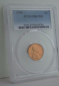 Click now to see the BUY IT NOW Price! 1938 LINCOLN CENT PCGS PR 67 RD