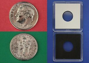 1997 D ROOSEVELT DIME WITH 2X2 CASE FROM MINT SETS FLAT RATE SHIPPING